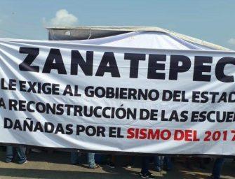 Bloquean paso a Zanatepec en demanda de reconstrucción