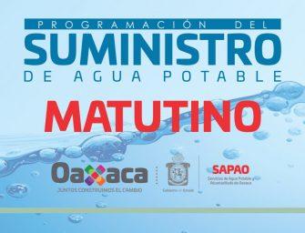 Consulta el suministro de agua potable para este miércoles 22 de mayo