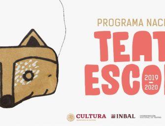 Invita Seculta a participar en el Programa Nacional de Teatro Escolar 2019