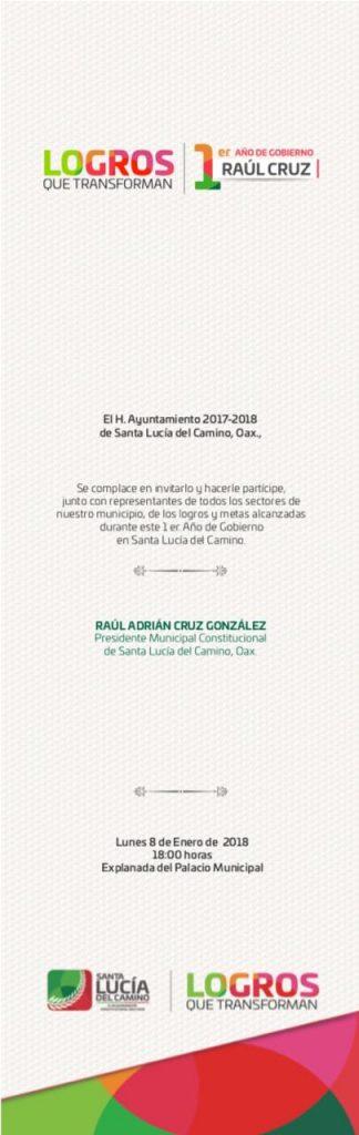 1er informe Raúl Cruz