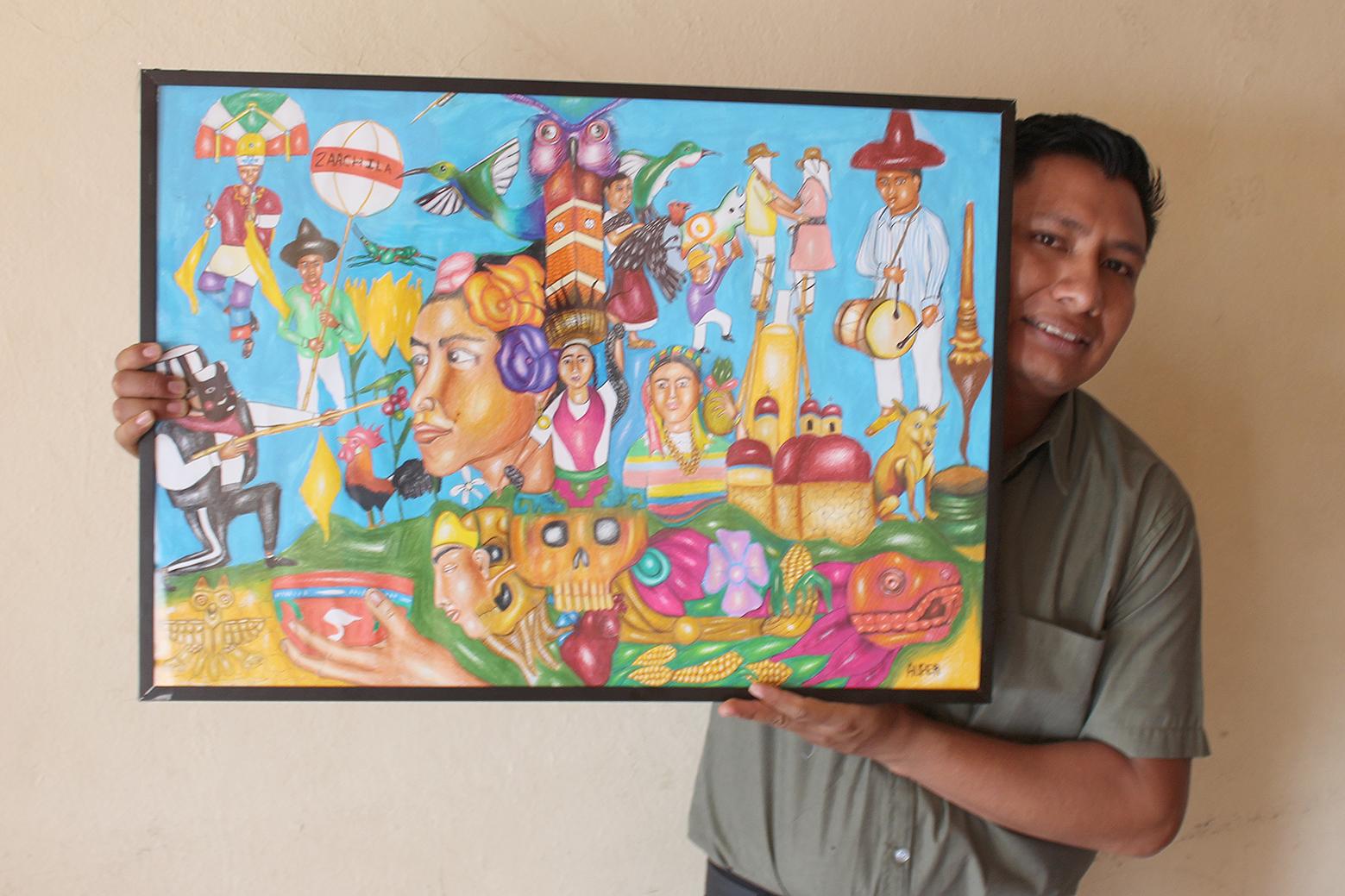 Photo of Creador de imagen oficial de Guelaguetza Zaachila 2018, ejemplo de superación y esfuerzo