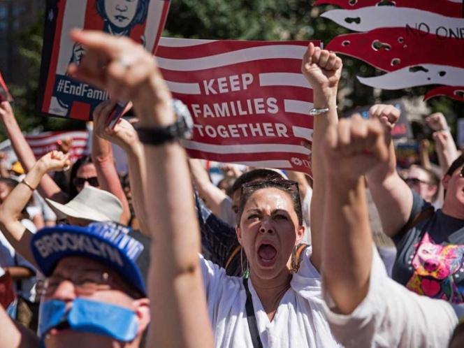 Photo of 'Las familias deben estar juntas', reclaman miles en EU a Trump