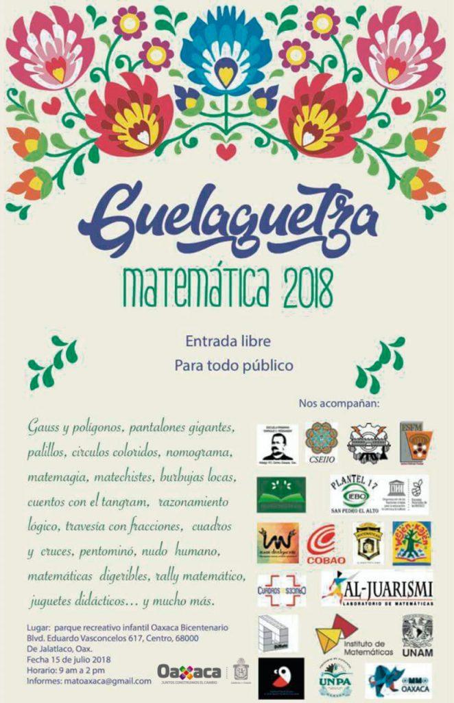 Este domingo, Guelaguetza Matemática 2018 en espacios públicos gubernamentales 1