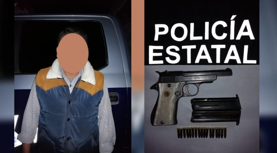 Photo of Detiene Policía estatal a sujeto por portación de arma de fuego
