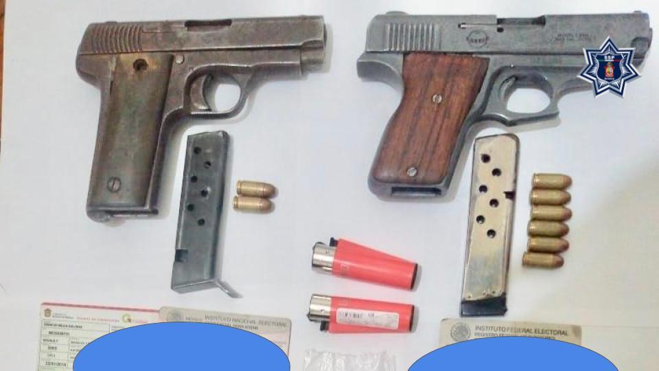 Photo of Asegura Policía Estatal a dos personas armadas sin permiso de la Sedena