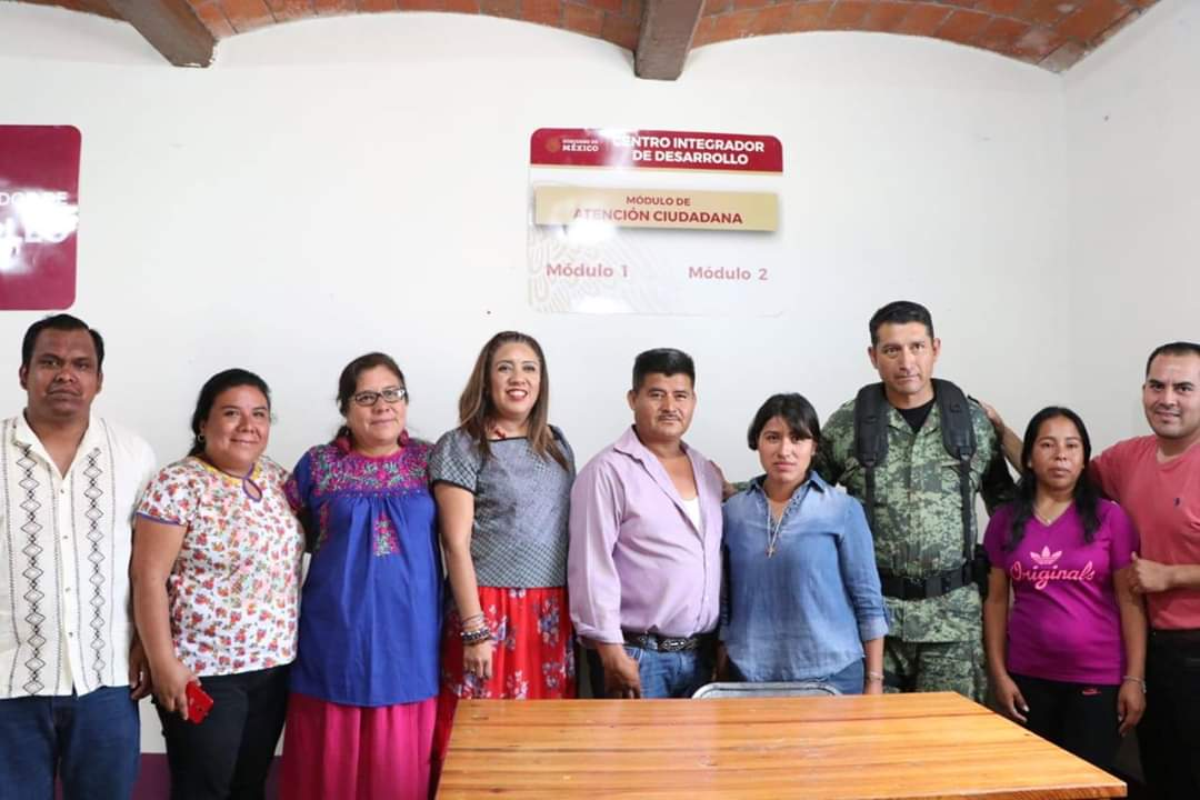 Photo of Inaugura Nancy Ortiz Cabrera, Centro Integrador para el Bienestar en San Miguel Ejutla