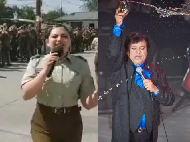 Photo of Con música de Juan Gabriel motivan a policía chilena antes de ir a trabajar