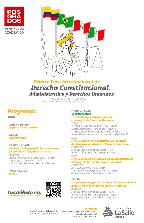 Photo of Realizará Universidad La Salle Oaxaca primer Foro Internacional de Derecho Constitucional, Administrativo y Derechos Humanos