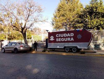 Para garantizar seguridad, instalan unidad móvil frente al CBTis 26 de San Felipe