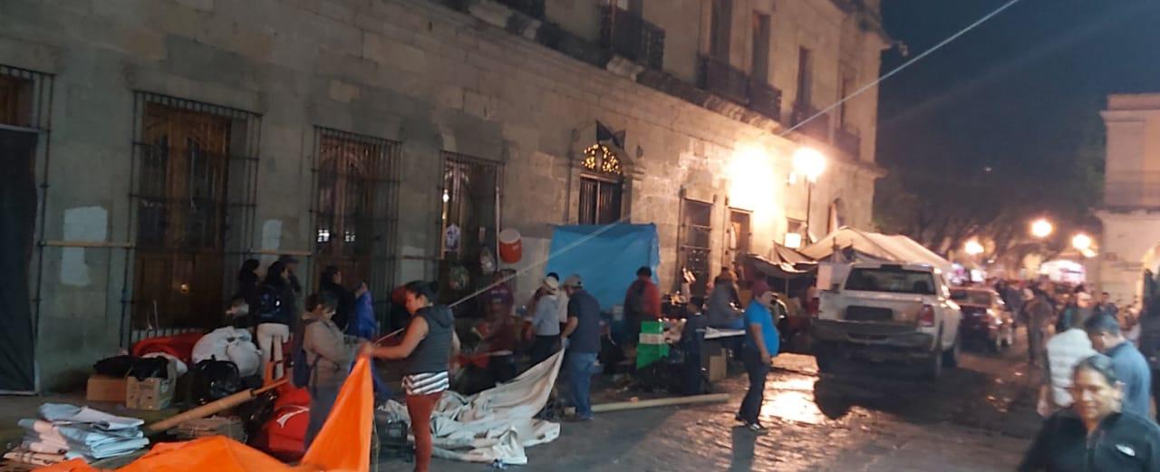 Photo of Se levanta plantón de pobladores de Parajes Unidos de Xoxo del Palacio de Gobierno