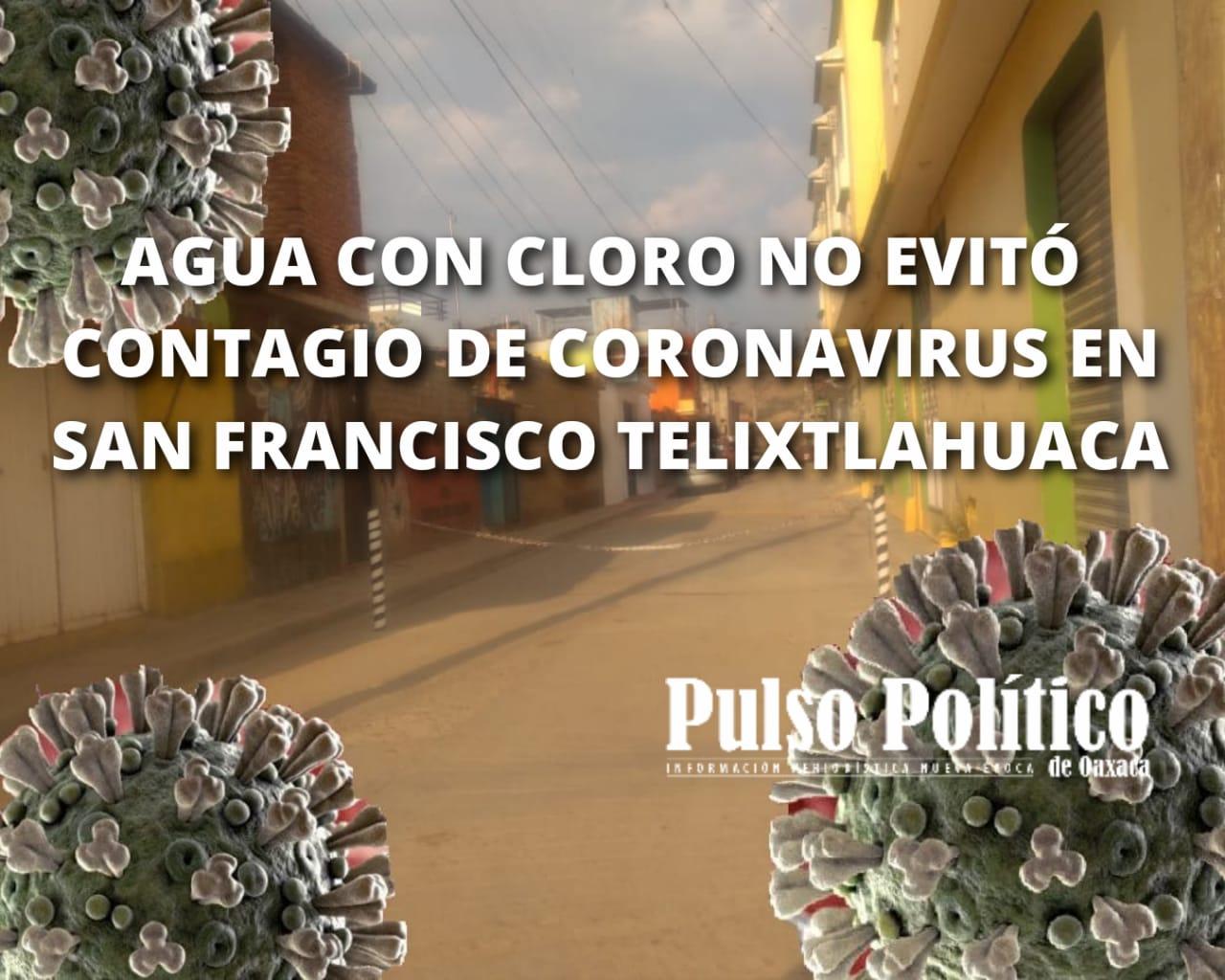 Photo of Agua con cloro no evitó contagio de Coronavirus en San Francisco Telixtlahuaca