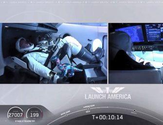 ¿Qué hacía un dinosaurio en el lanzamiento de la nave SpaceX?