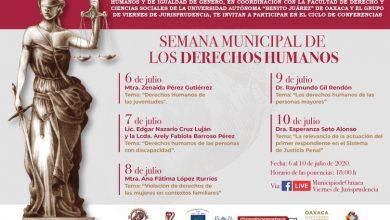 Photo of Invita Ayuntamiento de Oaxaca a la Semana Municipal de los Derechos Humanos