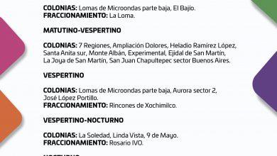 Photo of CONSULTA EL SUMINISTRO DE AGUA POTABLE PARA ESTE JUEVES 22 DE OCTUBRE DEL 2020