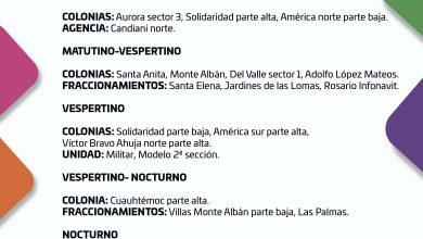 Photo of CONSULTA EL SUMINISTRO DE AGUA POTABLE PARA ESTE LUNES 26 DE OCTUBRE DE 2020
