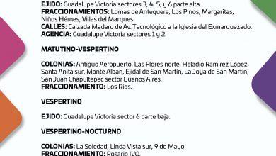 Photo of CONSULTA EL SUMINISTRO DE AGUA POTABLE PARA ESTE JUEVES 29 DE OCTUBRE DE 2020