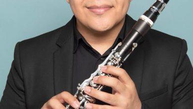 """Photo of Emiliano Mendoza, clarinetista zapoteca con nombramiento de """"Vandoren Paris"""""""