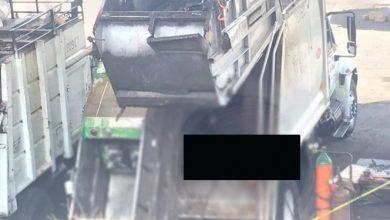 Photo of Muere trabajador de limpia prensado en camión de basura